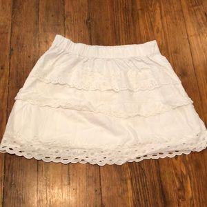J. Crew white eyelet skirt